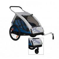 XLC Kinderanhänger Duo inkl. Fahrradset und Buggyrad
