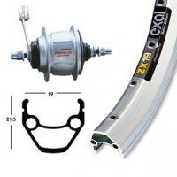 Bike-Parts H-Rad 28x1.75RB-Nabe Shim.8-G.silb.36L