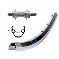 Bike-Parts H-Rad 28x1.75Alu Schr.ZKR.6/7silb.SSP36L