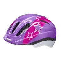 KED Helm Meggy Lilac Stars Gr.49-55 S/M 1J