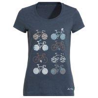 Vaude T-Shirt Da Cyclist V steelblue Gr.42 1J