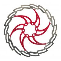 XLC Bremsscheibe 160mm silber/rot BR-X02 97Gramm