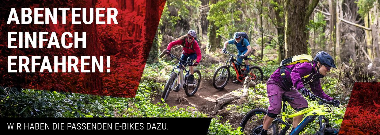 Abenteuer einfach erfahren! E-Bikes im RADHAUS.