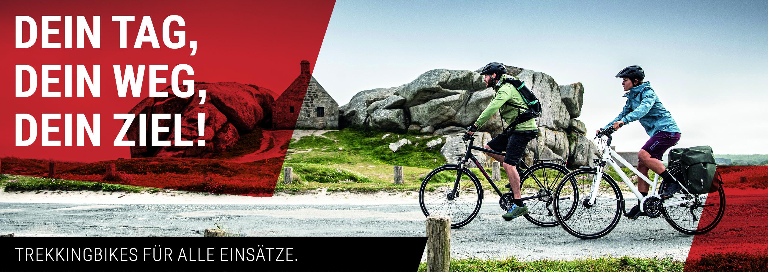 Dein Tag, Dein Weg, Dein Ziel! Trekkingbikes im Radhaus.