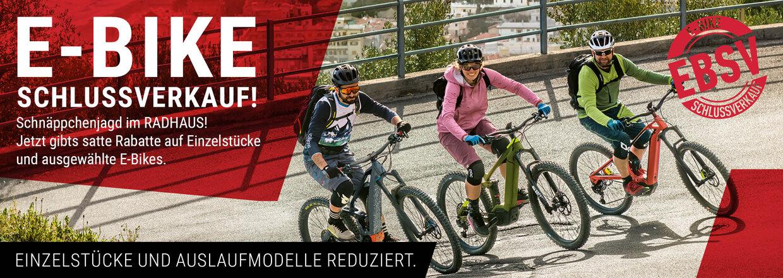 E-Bike Schlussverkauf im RADHAUS Ingolstadt